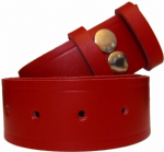 38mm Red Snap Fit Leather Belt